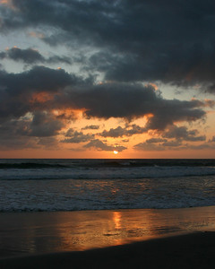 Sunset at South Carlsbad State Beach - Carlsbad, CA